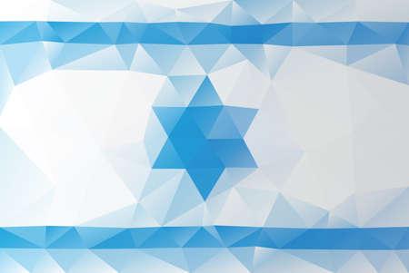 Israeli flag - triangular polygonal pattern