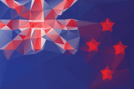 new zealand flag: Nuova Zelanda bandiera - triangolare modello poligonale Vettoriali