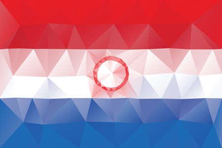 bandera de paraguay: Bandera de Paraguay - vector patr�n poligonal triangular