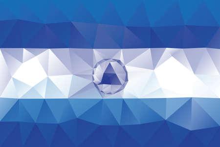 nicaraguan: Nicaraguan flag - triangular polygonal vector pattern