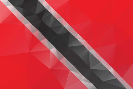 trinidad and tobago: Trinidad and Tobago flag - triangular polygonal vector pattern