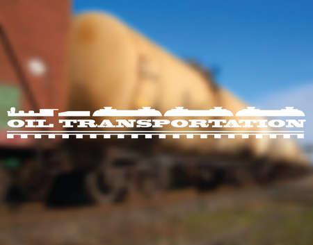 oil transportation: Oil transportation - railway tanks background Illustration