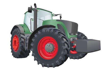 큰 바퀴 벡터 일러스트와 함께 농업 트랙터
