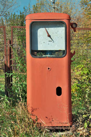 abandoned gas station: Old abandoned gas station pump