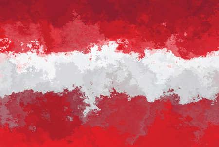 austrian flag: Austrian flag - grunge design pattern