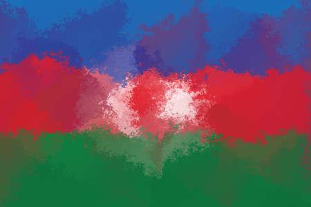 design pattern: Azerbaijan flag - grunge design pattern
