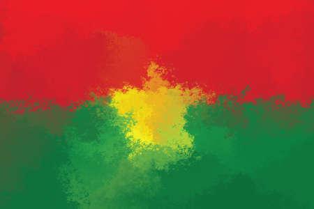 burkina faso: Burkina Faso flag - grunge design pattern