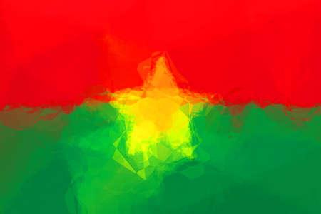 burkina faso: Burkina Faso flag - triangular polygonal pattern Stock Photo