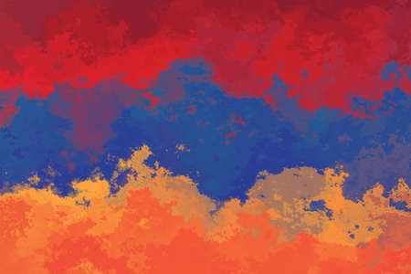 armenian: Armenian flag - grunge design pattern Stock Photo