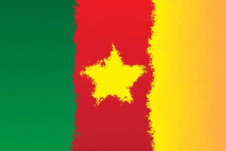 cameroon: Cameroon flag - grunge designl pattern