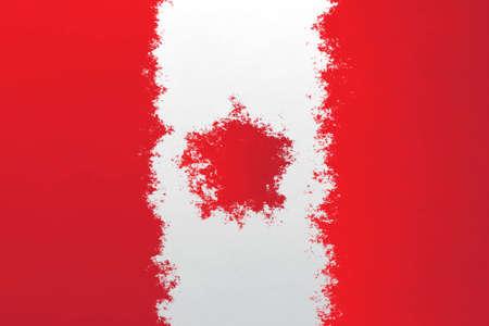canadian flag: Canadian flag - grunge design pattern Stock Photo