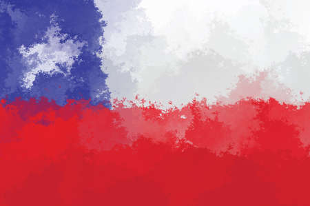 flag of chile: bandera de Chile - patr�n de dise�o del grunge