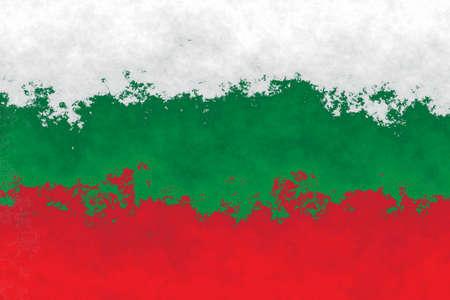 bulgarian: Bulgarian flag - grunge design pattern