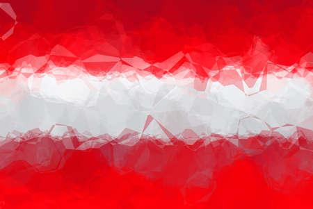 austrian: Austrian flag - triangular polygonal pattern Stock Photo