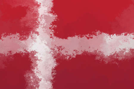 danish flag: Danish flag - grunge design pattern