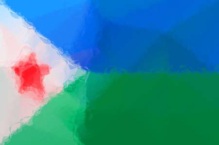 djibouti: Djibouti flag - triangular polygonal pattern