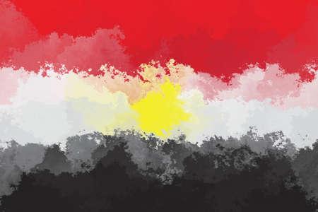 egyptian: Egyptian flag - grunge design pattern