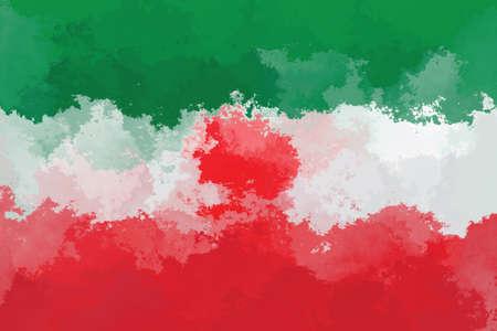iranian: Iranian flag - grunge design pattern Stock Photo
