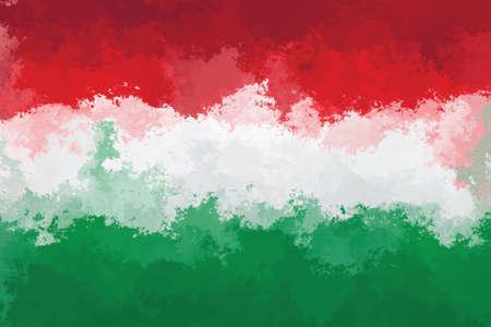 hungarian: Hungarian flag - grunge design pattern