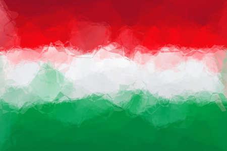 hungarian: Hungarian flag - triangular polygonal pattern