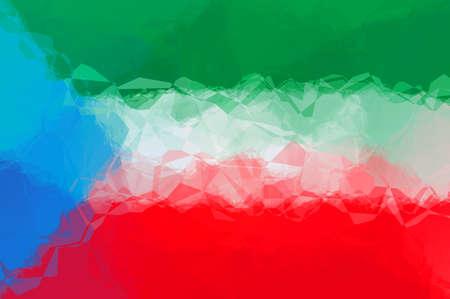 equatorial guinea: Equatorial Guinea flag - triangular polygonal pattern