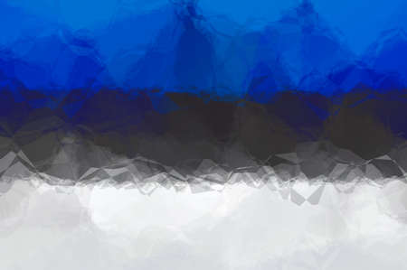 estonian: Estonian flag - triangular polygonal pattern Stock Photo