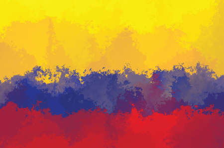 Colombian flag - grunge design pattern