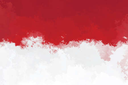 graphic backgrounds: Indonesian flag - grunge design pattern