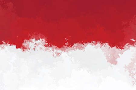 Indonesian flag - grunge design pattern