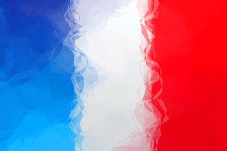 triangular flag: French flag - triangular polygonal pattern