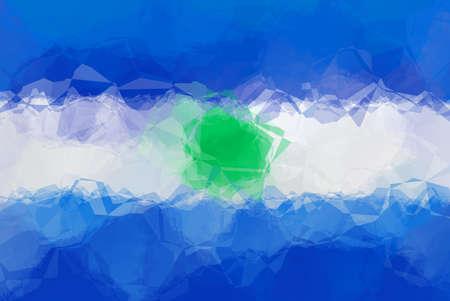 bandera de el salvador: bandera de El Salvador - modelo poligonal triangular Foto de archivo