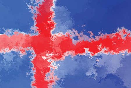 iceland flag: Iceland flag - grunge design pattern