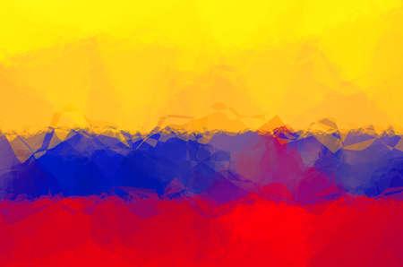 triangular flag: Colombian flag - triangular polygonal pattern