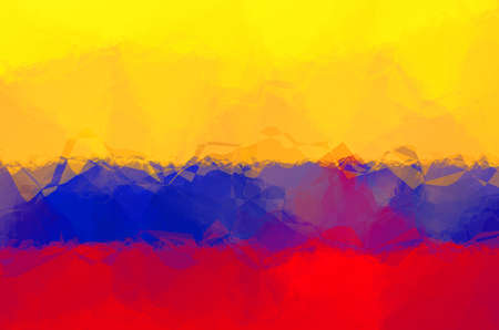 Colombian flag - triangular polygonal pattern