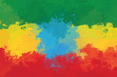 ethiopian: Ethiopian flag - grunge design pattern