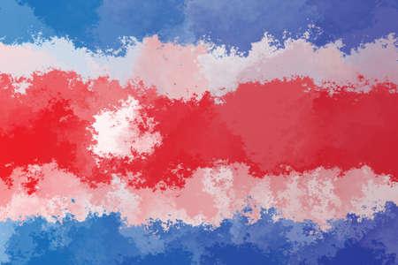 costa rica flag: Costa Rica flag - triangular polygonal pattern Stock Photo
