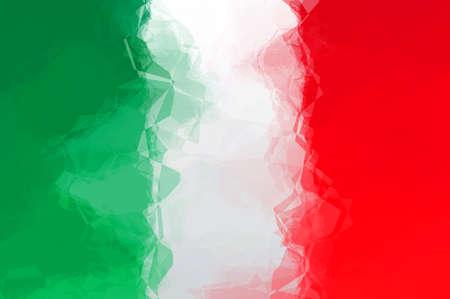 triangular: Italian flag - triangular polygonal pattern Stock Photo