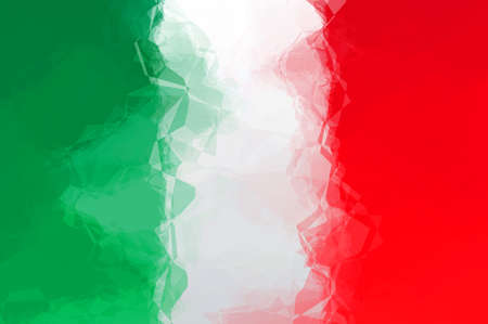 Italian flag - triangular polygonal pattern Stock Photo
