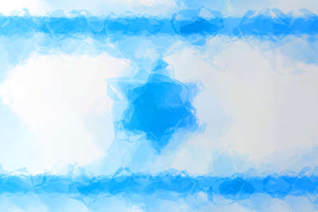 israeli flag: Israeli flag - triangular polygonal pattern