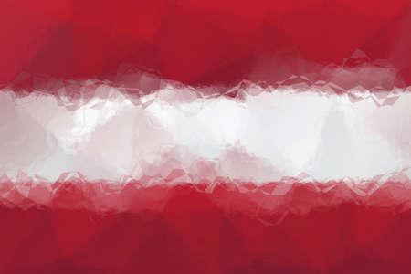 triangular flag: latvian flag - triangular polygonal pattern