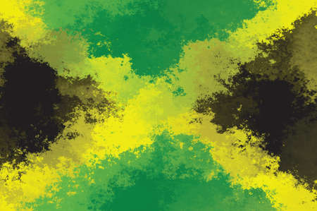 Jamaica flag - grunge design pattern