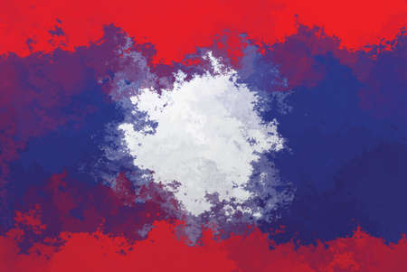 laos: Laos flag - grunge design pattern Stock Photo