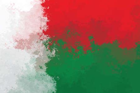 Madagascar flag - grunge design pattern Фото со стока