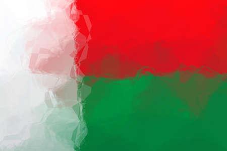 madagascar: Madagascar flag - triangular polygonal pattern