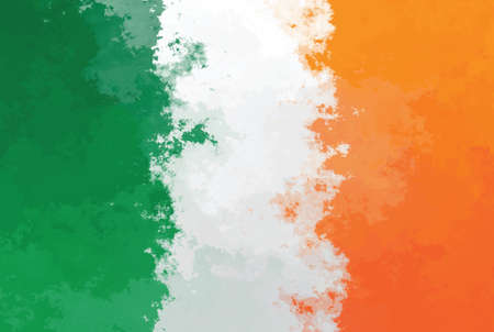design pattern: Irish flag - grunge design pattern