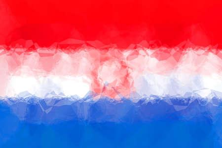 triangular: Paraguay flag - triangular polygonal pattern