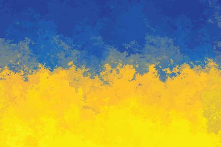 ukrainian flag: Ukrainian flag - grunge design pattern