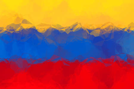 bandera de venezuela: Bandera de Venezuela - patrón poligonal triangular