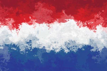dutch flag: Dutch flag - grunge design pattern Stock Photo