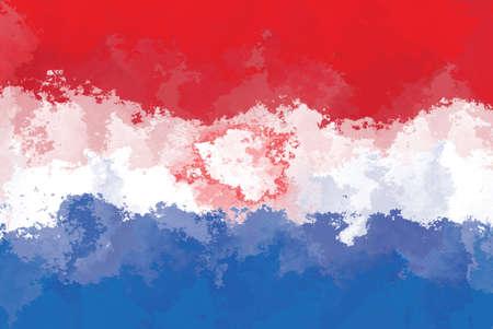 paraguay: Paraguay flag - grunge design pattern